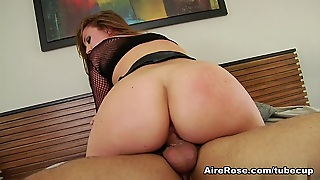 Redhead Maddy Oreilly Takes It All In