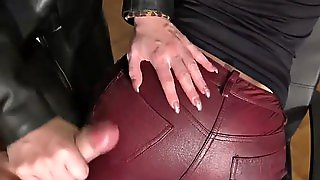 Leather Ass Cumshot