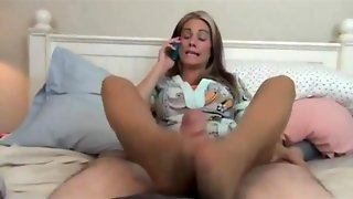 Not Mother Gives A Footjob 2