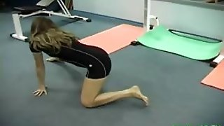 Flexible Chick Shows Some Gym Fuck