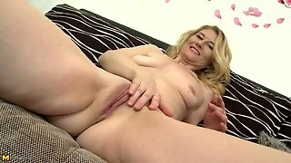 Charming Blonde Mature Chick With Sexy Little Tits