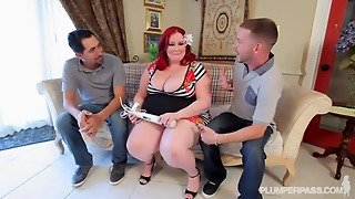 Double Penetration Of Huge Redhead
