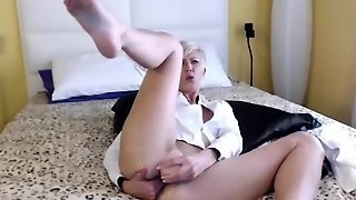 Short Haired Milf Masturbates
