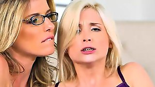 Cory Chase And Piper Perri Amazing 3Some On The Couch