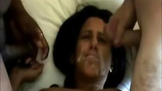 She Takes Their Cum On Her Face