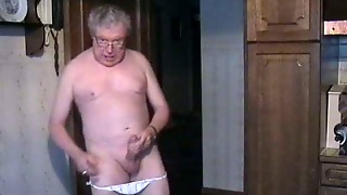 Mature Gay Masturbating At Home