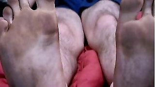 Straight Male Feet On Webcam