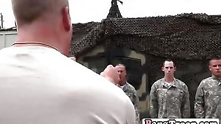 Gay Soldier Gets On Knees And Blows Enormous Rock Hard Wood