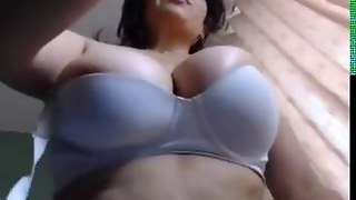 Dirty Mom Shows Off Her Big Breasts