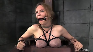 Drooling Babe In Bondage Fingered By Mistress