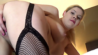 Lesbian Tit Play And Toy Fuck.