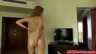 Bigass Babe Toys With A Buttplug