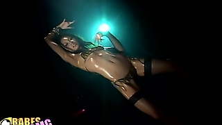Yoko Kaede, Oil, Trance, Striptease, Dancing, Techno