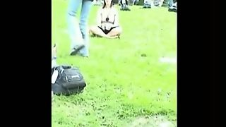 A Voyeur Filming Upskirt Videos In A Crowded Park