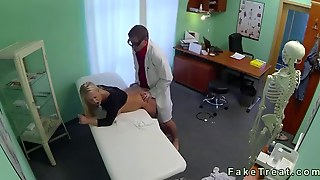 Busty Blonde Squirts While Fucking Her Doctor