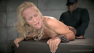 Duo Of Submissive Blond Sluts Had Hard Interracial 4 Some