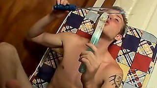 Gay Orgy Blowing Bubbles With Billy