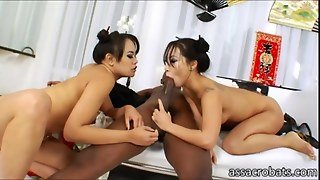 Tempting Asian Honeys Gets Ripped Anally And Interracially
