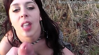 Female Stalker Follows Guy To A Park And Sucks His Cock