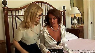 What Could Possibly Be Hotter Than Two Carpet Munching Milfs Getting Together And Fucking Like Theres No Tomorrow Nina Hartley And Rachel Steele Are Horny As Hell And Ready!