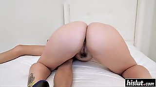 Giant Cock Swallowing With Angelina Castro