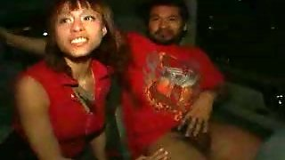 Dirty Slut Malaysia Flashes Her Pussy In The Backseat