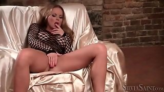Big Tits And High Heels On Sexy Solo Girl
