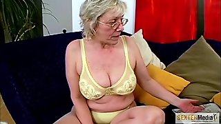 Old Woman Shows Her Body