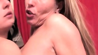 Brunette Lesbo Mature Finger Fucked From Behind