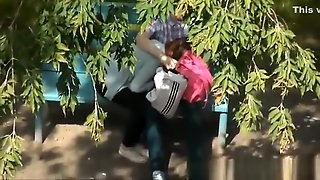 Girl Blowjob In A Public Park.
