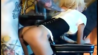 Busty Milf Does Anal Sex In Black Fishnet Stocking