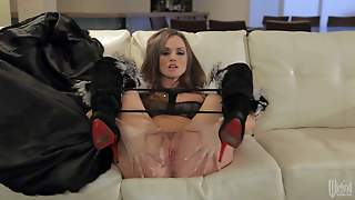 Sexy Pornstar Tori Black In High Heels Pulls Down Her