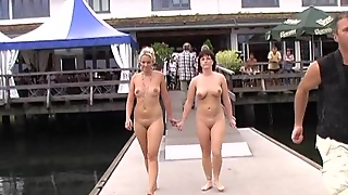 Hot Public Nudity Vid With Two Crazy Girls