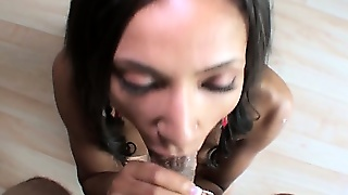 The Ebony Beauty Plays With Her Sweet Pussy And Drives That Big Shaft To Orgasm