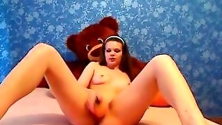 Horny Girl Toying On Webcam