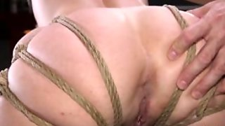 Blindfolded Slave In Bondage Whipped