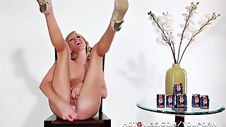 Hotgvibe, Screaming, Model, Tits, Orgasm, Solo Girl, Vibrator, Celebrity, Gspot, Toy, Blonde