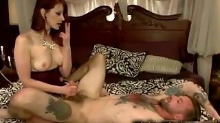 Bound Guy In Bed Fucked With Strapon Toy