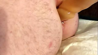 Extreme Long Dildo In Young Asshole.