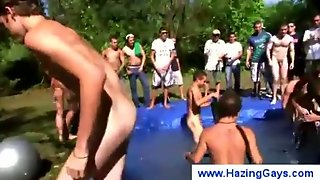 College Guys Skinny Dipping