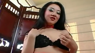 Teasing And Masturbation In Panties And Stockings