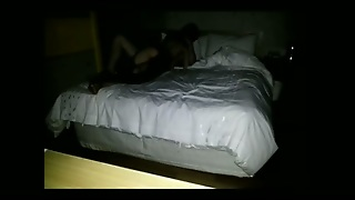 Hidden Cam In The Motel Room Catches A Horny Korean Couple Fucking