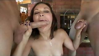 Crissy Moon Swallows Multiple Loads
