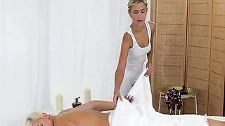 Blonde On Blonde On Massage Table