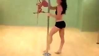 Pretty Girl Dancing On A Pole