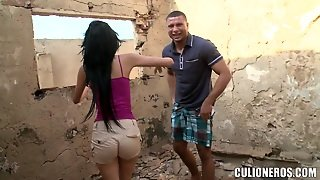 Luchy Gives A Blowjob And Gets Unforgettably Fucked In The Yard