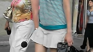 Street Voyeur Video With Tight As In White Skirt
