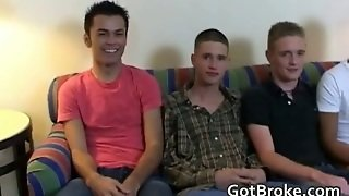 Straight Guys In Gay Anal Orgy Video