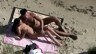 Spy Cam On A Beach. European Couple Fucks. Outdoors