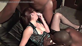 Interracial Brunette Wife In Mmf